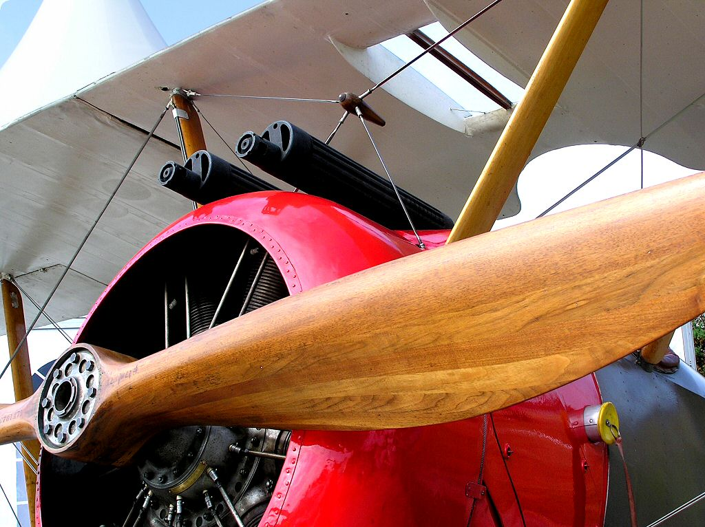 Royal Navy Air Service and Royal Flying Corps RFC Sopwith Pup WW1 Fighter Biplane - Photgraphic wallpaper -  just like the ones you can drive with Microsoft flight simulator