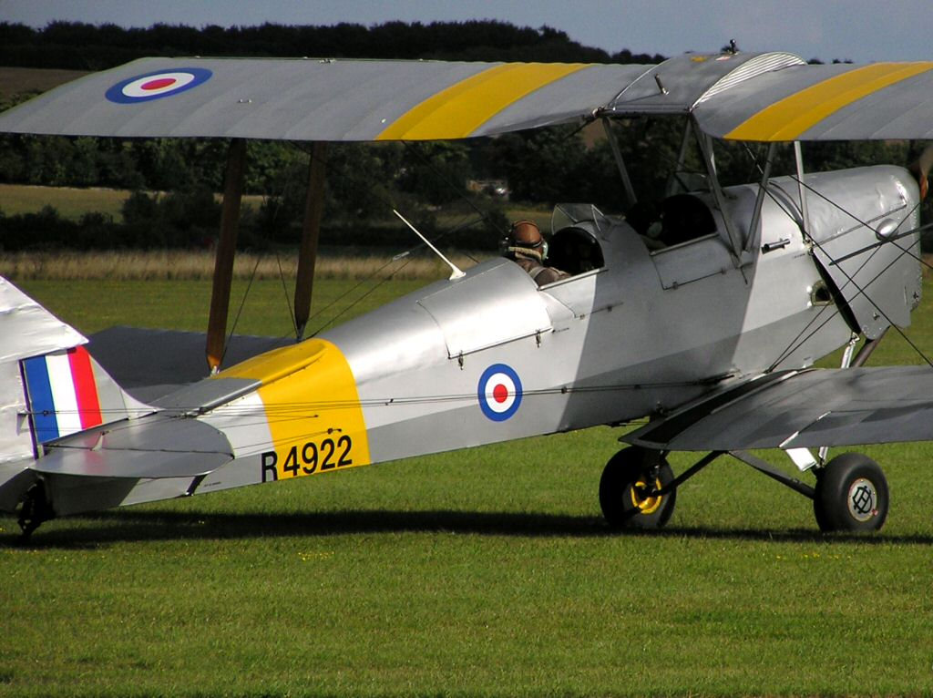 WW2 Royal Air Force (RAF) deHavilland D.H. 82 Tiger Moth trainer biplane