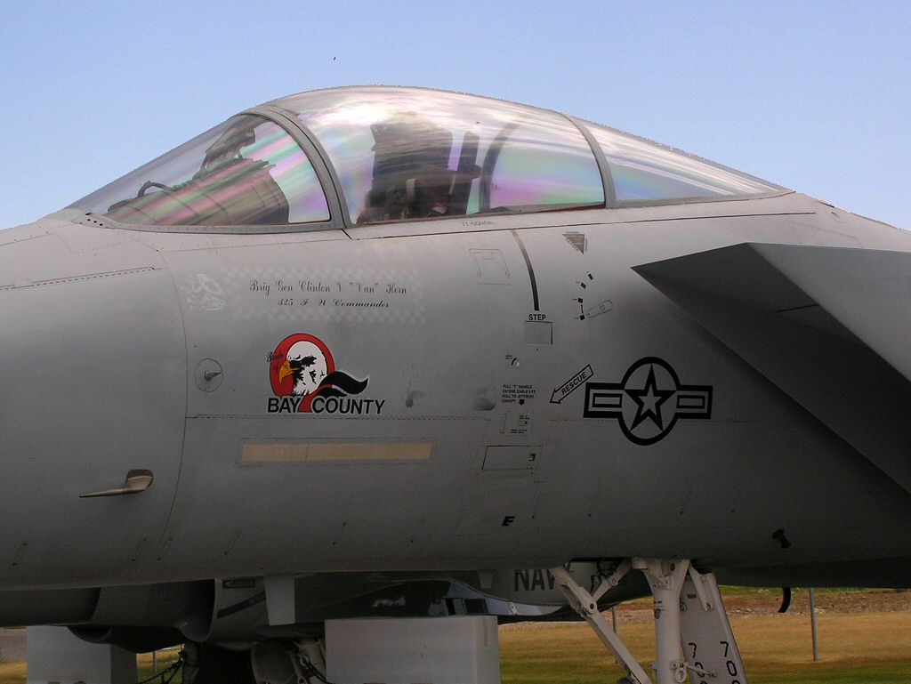 USAF McDonnell Douglas F-15 Eagle air superiority jet fighter