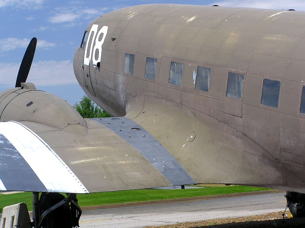 WW2 USAAF Douglas DC-3 C-47 Dakota Military and Civil transport plane  just like the ones you can fly with Microsoft flight simulator