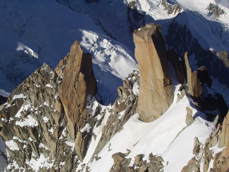 Aretes in Mountain areas are glaciers erosion features great for winter mountaineering