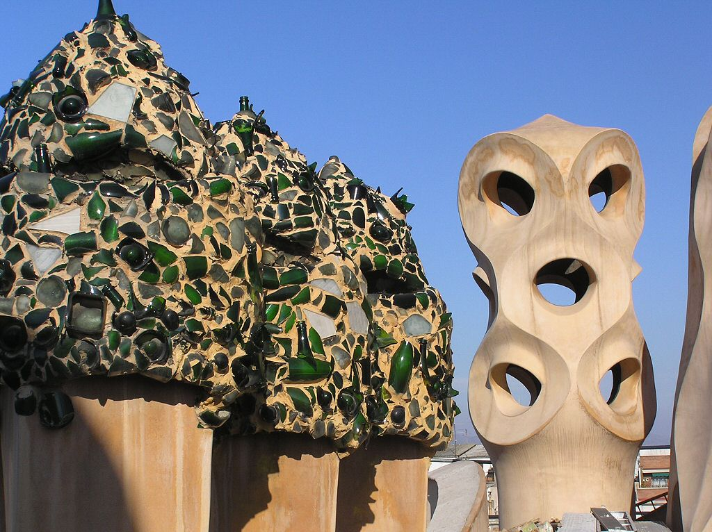 Gaudi's Casa Mila, La Pedrera, Barcelona and Gaudi Ideal Spanish