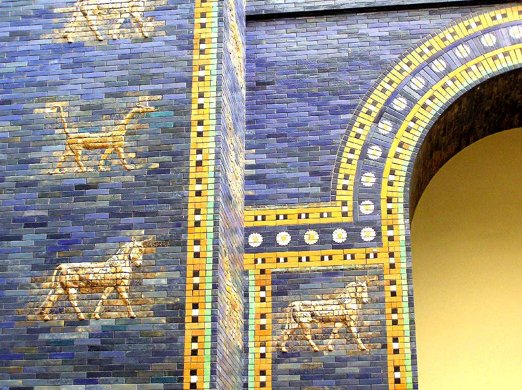 Berlin Pergamonmuseum home of Babylon gate and walls  found by archaeologists