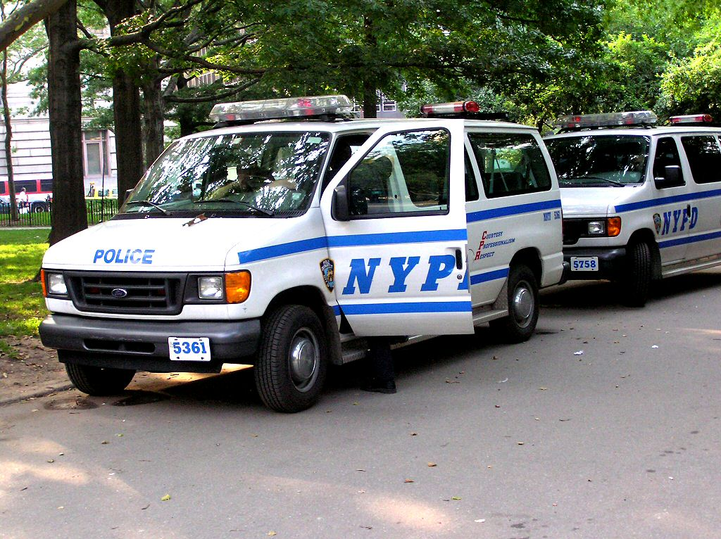 Photographs of New York NYPD police vehicles