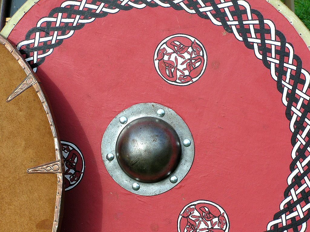Military History - Painted Saxon Warriors Shield