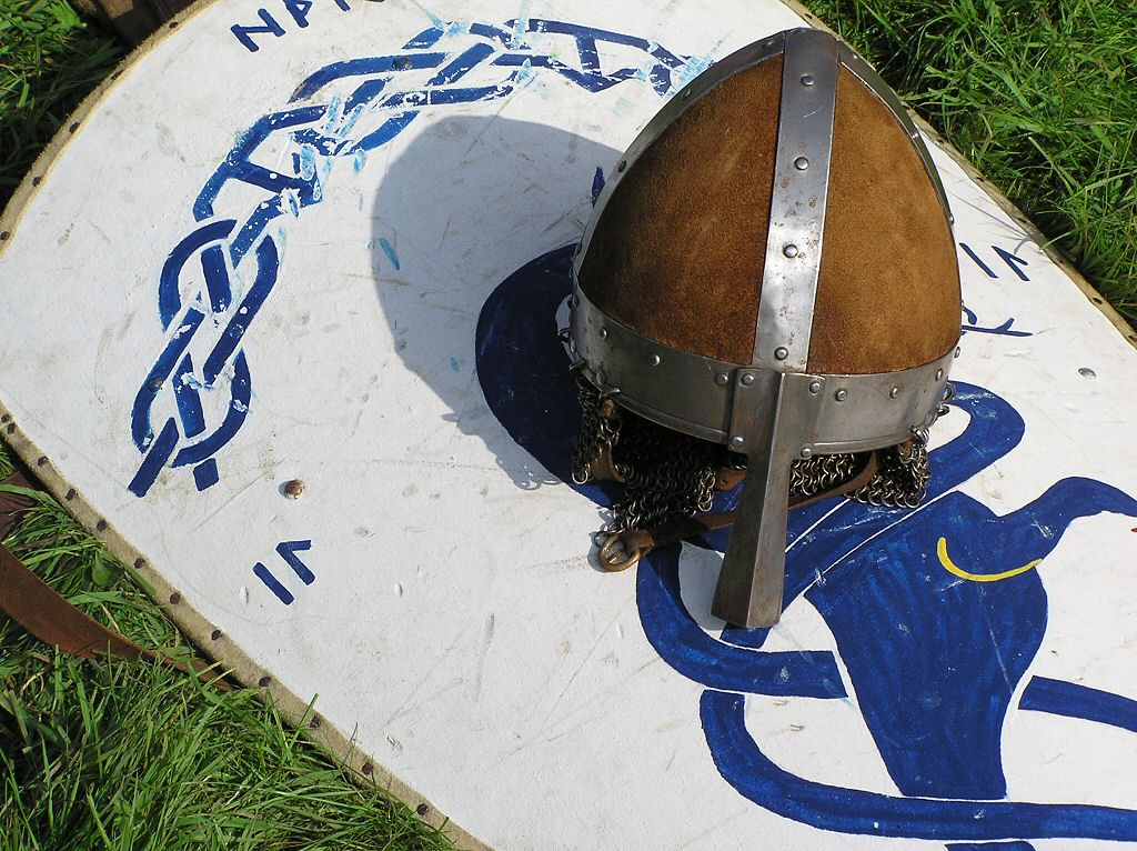 Military History - Norman Knights helmet and Long Shield