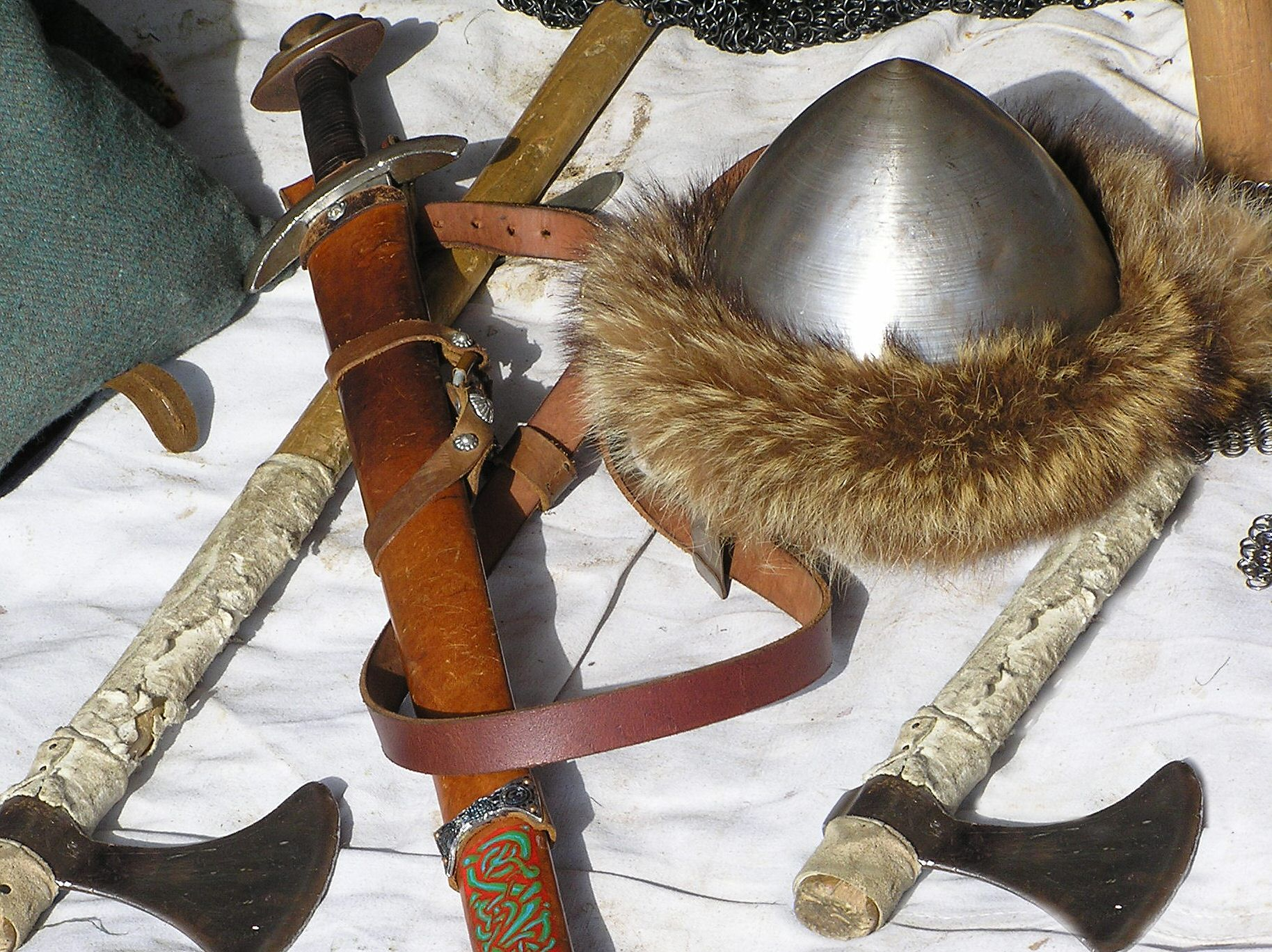 Military History - Viking Warrior's Weapons Sword and Battle Axe