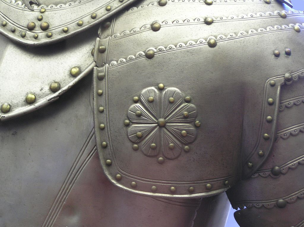A Knight's breast plate and armoured shoulder