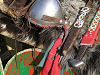Saxon Warrior's armoured helmet swords and shield used at 1066 Battle of Hastings