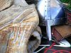 1066 Battle of Hastings Norman Knight's under chain mail jerking and armoured Helmet with nose guard